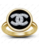 925 Silver Gold Plated White CZ Lady Fashion Jewelry Accessories Women's Ring  - $47.99
