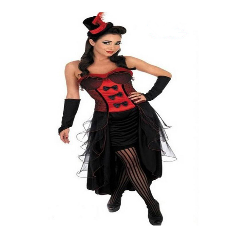 European Woman Jazz Dance Night Club Singer Costume Cosplay red S