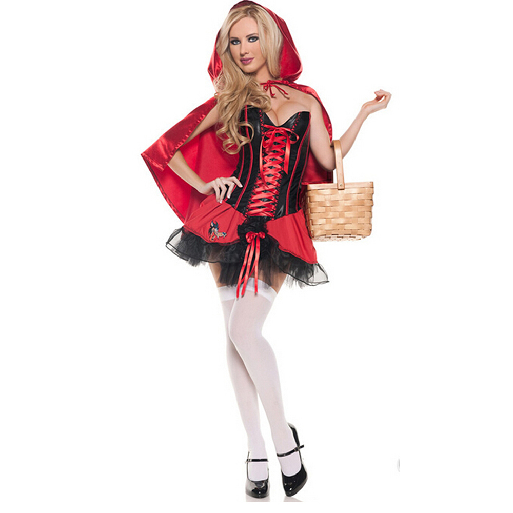 Costume Little Red Riding Hood Ladies Fancy Dress Hens Party Halloween Outfit