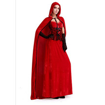 Women Sexy Little Red Riding Hood Adult Costume Fancy Dress Up Halloween... - $51.99