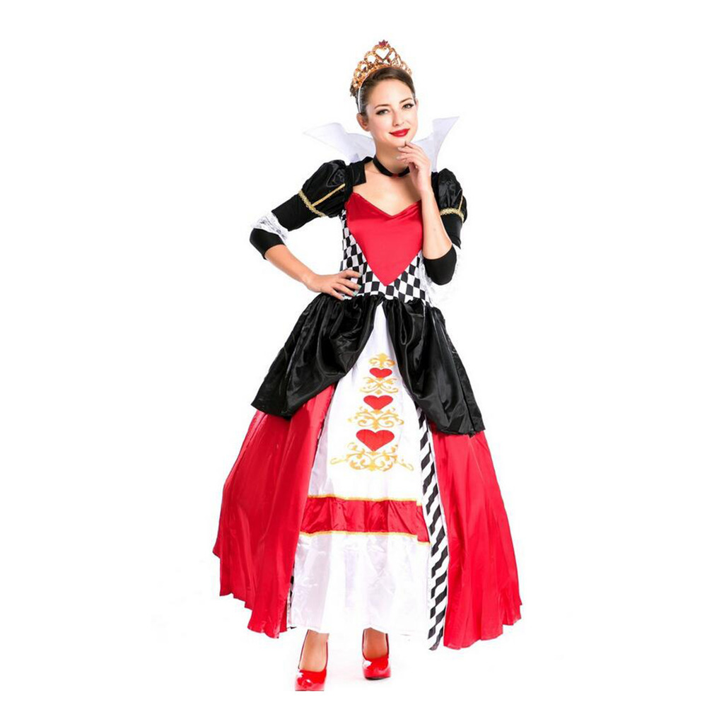 Halloween Queen Garment Court Game Uniform Crown Stage Costume
