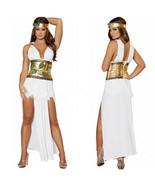 Egypt Queen Dress Roma Greek Divine Goddess Women Halloween Costume Fanc... - $31.99