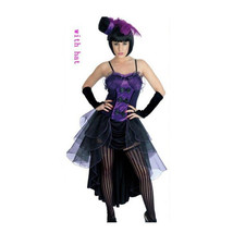 European Woman Jazz Dance Night Club Singer Costume Cosplay purple S - $49.99