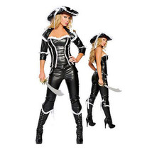 Sexy Game Uniform Leather Skinny Pirate  M - $51.99
