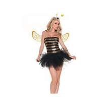 Cosplay High Quality Sexy Cute Off-shoulder Little Bee Dress-up - $43.99