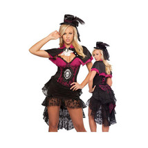 European Halloween Big Bowknot Bakcswing Skirt Woman Zombie Game Uniform  S - $49.99