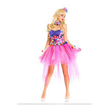 European Halloween Circus Troup Colorful Camisole Princess Skirt - $67.99