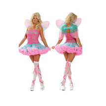 Sexy Uniform Cosplay Pink with Wings Little Bees Dress-up - $42.99