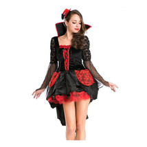 Halloween Garment European Halloween Queen Long Backswing Game Uniform  M - $49.99