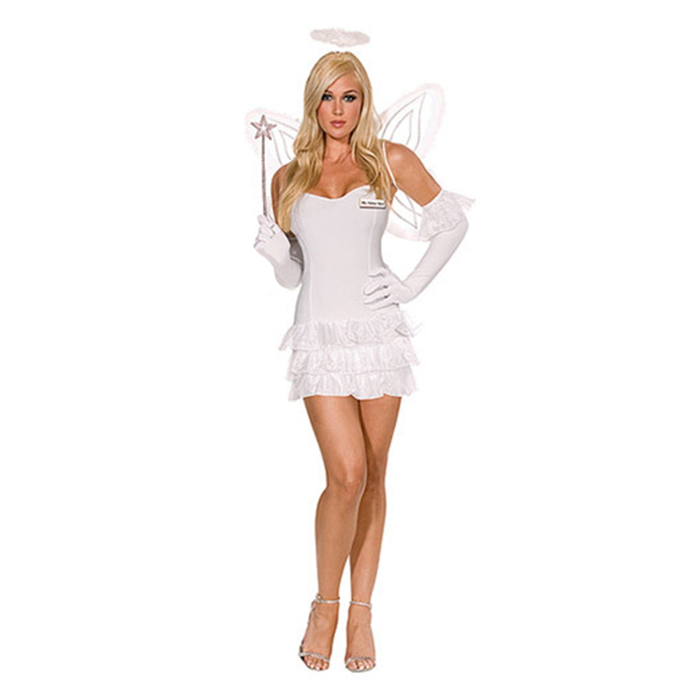 Halloween Garment Cute Angel with Wings Stage Costume