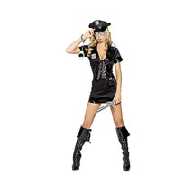 Black Belt Policewoman Garment Halloween Party Game Garment M - $41.99