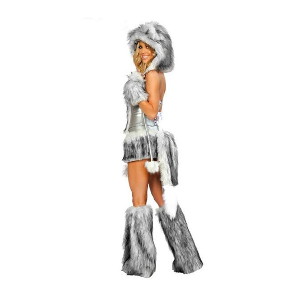 European Halloween Animal Game Garment Big Tail Wolf  grey