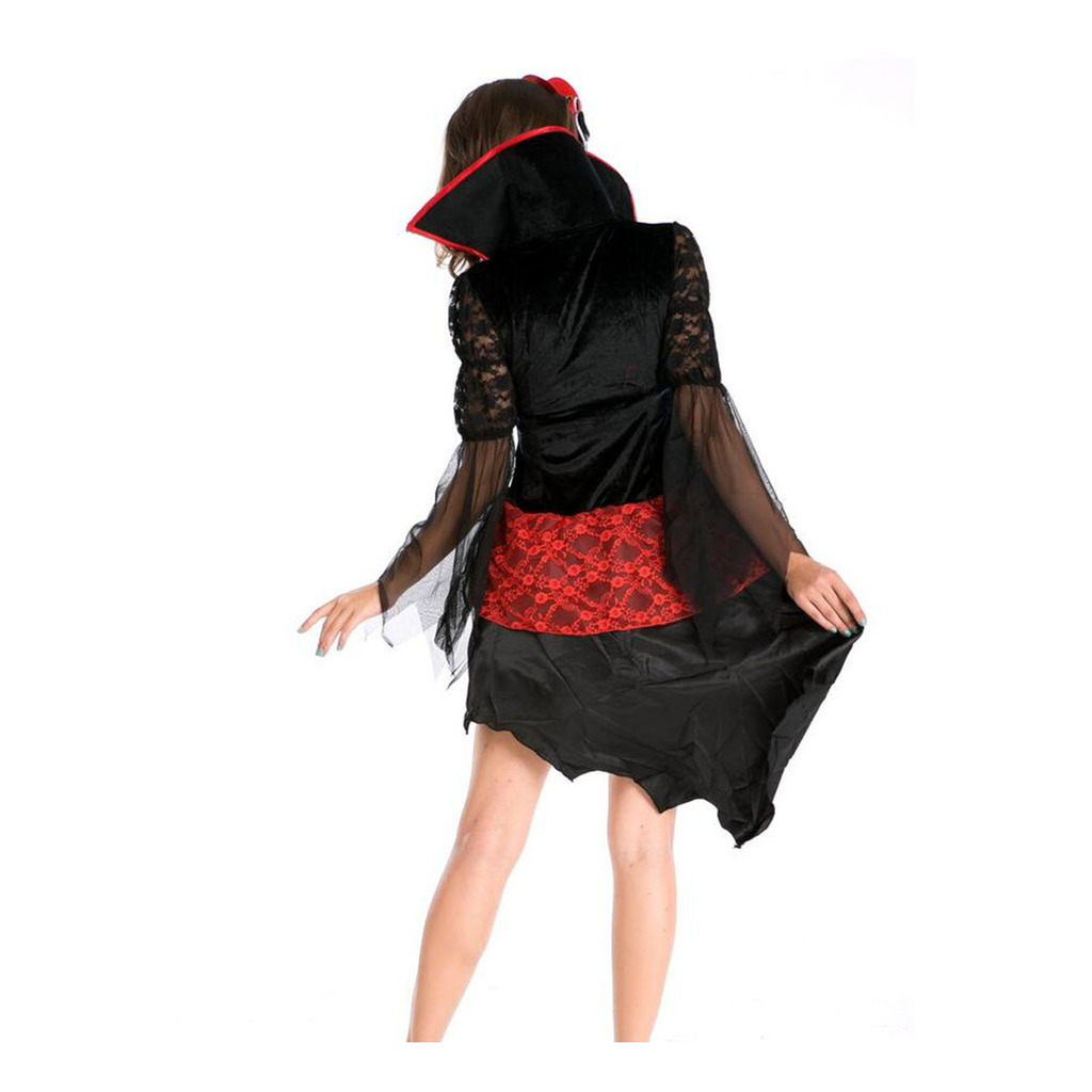 Halloween Garment European Halloween Queen Long Backswing Game Uniform  M