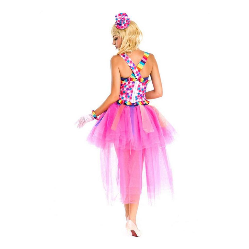 European Halloween Circus Troup Colorful Camisole Princess Skirt