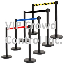 "RETRACTABLE BELT STANCHION, 36"" TuffTex BLACK 78"" 2 PCS SET - $84.15+"