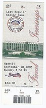 2003 Phillies Final Last Game at Veterans Stadium Full Unused Season Ticket - $140.25