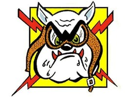 Hot Rod Rat Rod Vintage Window Decal The Bull Dog #2 - $2.95