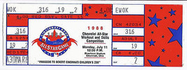 1988 MLB baseball All Star Game Workout Day Home Run Derby Full Unused T... - $79.48