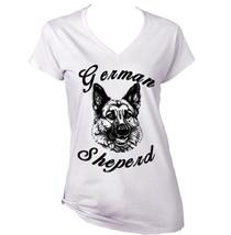 German Sheperd   New White Cotton Lady Tshirt - $26.23