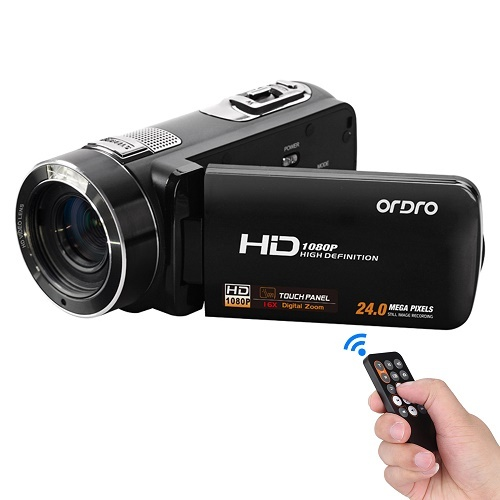 1080P Ordro HD Digital Video Camera 24MP Anti-Shake Remote LCD Touch Screen