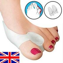 2 Silicone Gel Bunion Toe Protector Straightener Corrector Spreader Splint Pad - $3.47