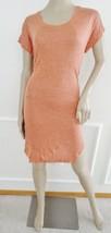 Nwt Kensie Knit Short Sleeve Scoop Neck Dress Sz M Medium Heather Peach $88 - $22.72