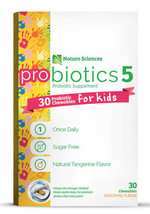 Kids Chewable Probiotic Supplement, 30 Ct, Sugar Free, Natural Tangerine... - $18.97