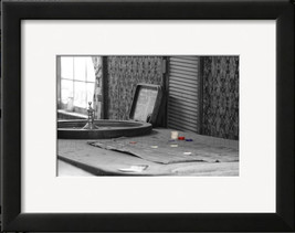 Gambling in the Old West Black & White Photograph w Colored Chips Wall A... - $40.00