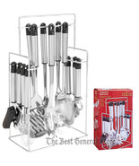 14pc Stainless Steel Kitchen Tool & Gadget Set with Rack Apartment RV Of... - $44.99