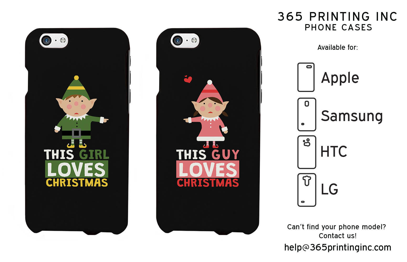 Elf Couple Phone Cases - iPhone 4-6+, Galaxy S3-6 NOTE 4, HTC M8, LG G3