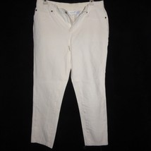 CHICO Mid Rise Stretch Cream Cotton Jeans SIZE 1 (29 x 26 Actual) - $14.22