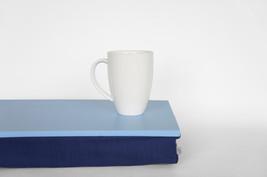 Breakfast tray, Sofa Tray, lapdesk - light blue tray with blue pillow - $49.00