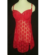 Smart & Sexy Women Large 40D RED Lace Nighty Sl... - $19.59