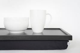 Laptop Lap Desk, laptop stand- dark grey with Dark Grey Pillow- L or XL size - $60.00