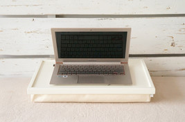 Breakfast serving Tray or Laptop Lap Desk- Off white with ivory Linen fabric- L  - $60.00