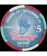 $5 Casino Chip, Flamingo Hilton, Reno, NV. Virgo, #0071 of 1500. L53. - $5.50