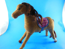 Vintage Applause Mediu Brown Horse Plush w darker Mane & Tail Myrtlewood... - $6.92