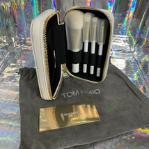 NEW Tom Ford Soleil Natural Hair Brush Set 6,11,12,16 White Case  HOLIDAY GIFT image 4