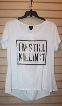 New Womens Plus Size Gold Killin It Leopard Print Tee Shirt With Cut Out Back - $14.50