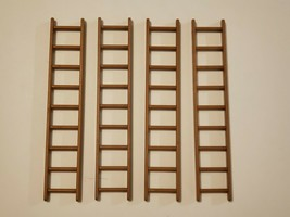 Lot of (4) 1977 Playmobil Castle 9 Rung Ladders - 3666 7175 3446 - Vintage - $7.95