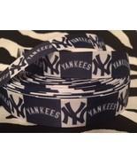 """1 Yard 7/8"""" NEW YORK YANKEES Grosgrain Ribbon - # 1 - $1.03"""