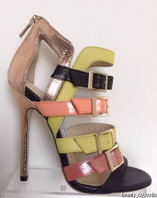 "NEW Authentic JIMMY CHOO ""Bronx"" Multicolor Bronx Sandals (Size 35.5)-MSRP $995"