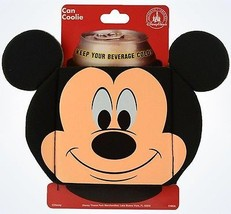 Disney Parks Mickey Mouse Icon Shaped Can Coolie New With Card - $11.11