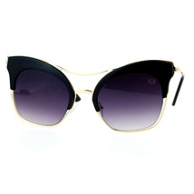 Womens Designer Fashion Sunglasses Oversized Square Butterfly Flat Frame - $10.84+
