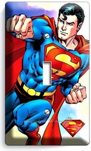 RETRO SUPERMAN SUPERHERO SINGLE LIGHT SWITCH WA... - $7.99