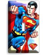 RETRO SUPERMAN SUPERHERO SINGLE LIGHT SWITCH WALL PLATE COVER BOYS BEDROOM DECOR - £7.99 GBP