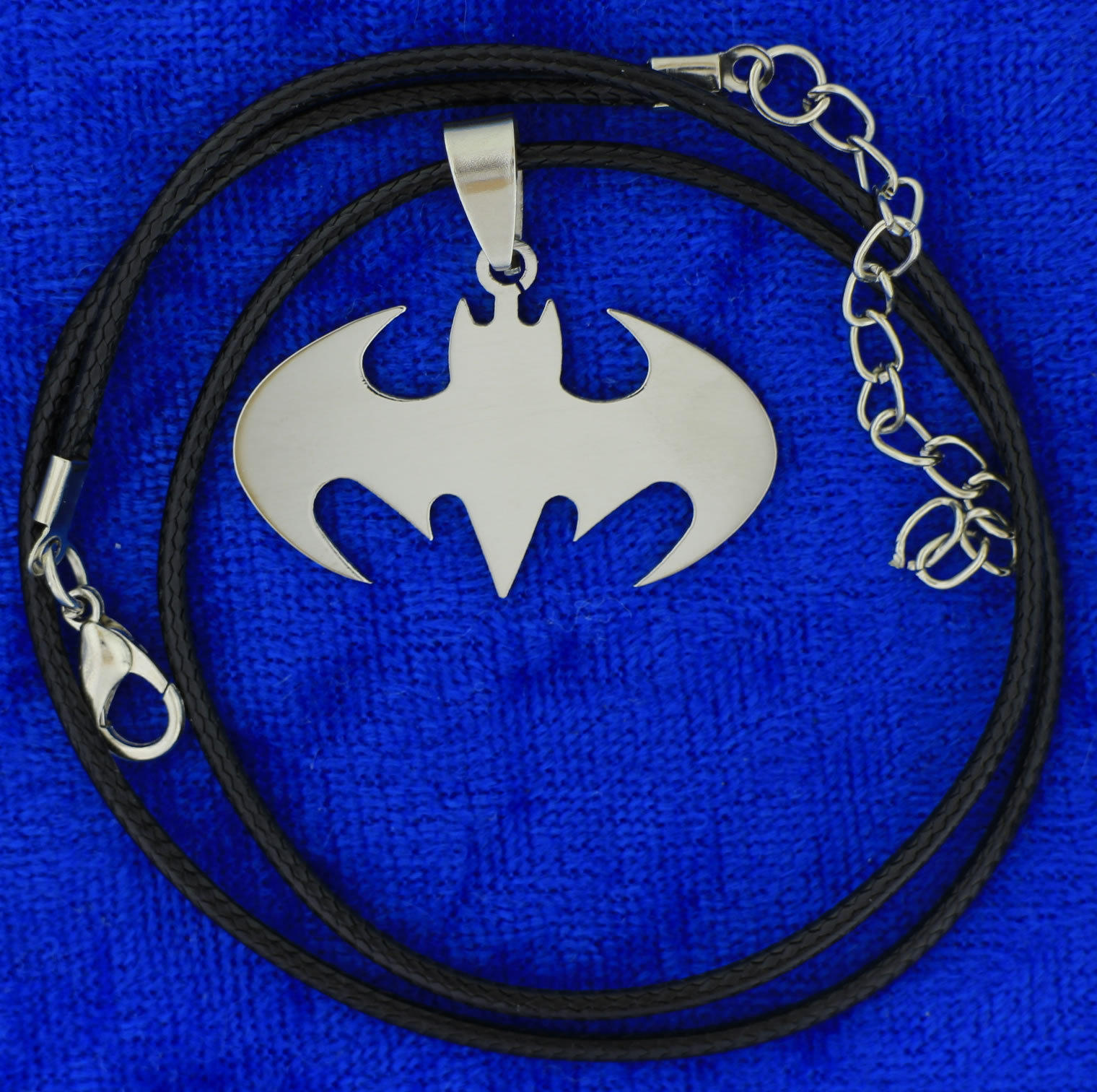 Batman Crest Necklace Style Bat Symbol Chain Style Length Choice