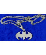 Batman Crest Necklace Style Bat Symbol Chain St... - $4.49 - $5.99