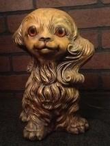 Vintage Ceramic Dog Lamp - Too Cute - $92.85
