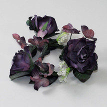 12 Purple Latex Flower Candle Ring Floral Design Arrangement Wreath Wedd... - $19.62